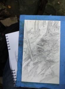 PineQuarry cliff under drawing