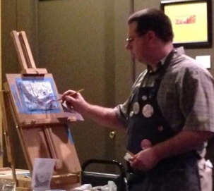 Cafe Int'l Live Painting Demo