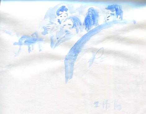 Chick Fil a Blue WC sketch